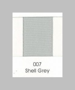 007 Shell Grey Grosgrain Ribbon