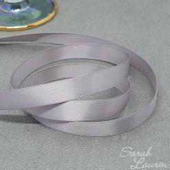 012 Silver satin ribbon double faced