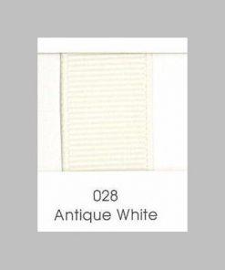 028 Antique White Grosgrain Ribbon