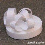white grosgrain ribbon 029
