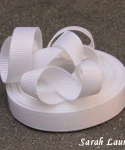 white grosgrain ribbon 029