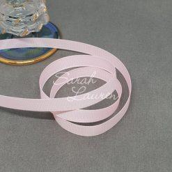 115 Powder Pink grosgrain ribbon 9mm