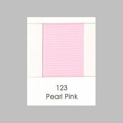 123 Pearl Pink Grosgrain Ribbon