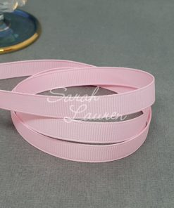 123 Pearl Pink grosgrain ribbon 9mm