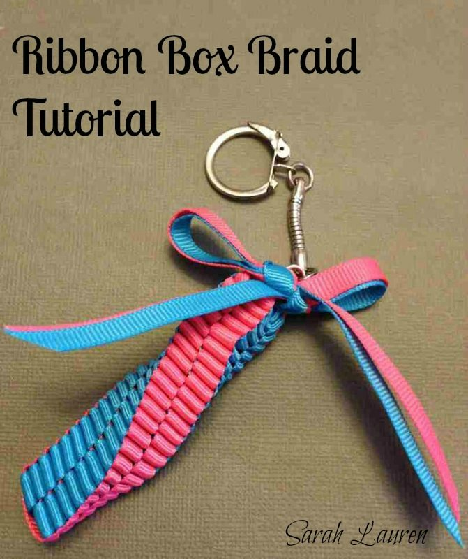Completed Ribbon Box Braid Mini Lei Bag Charm Title