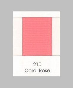 210 Coral Rose Grosgrain Ribbon