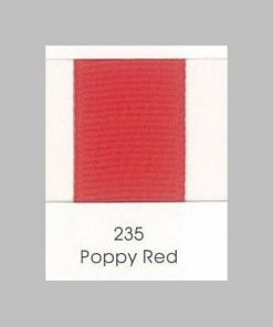 235 Poppy Red Grosgrain Ribbon