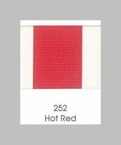 252 Hot Red Grosgrain Ribbon
