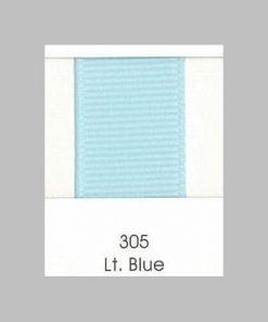 305 Lt Blue Grosgrain Ribbon