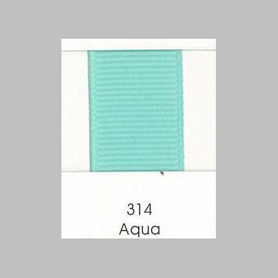 314 Aqua Grosgrain Ribbon