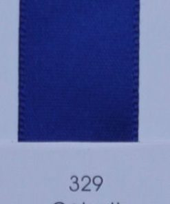 329 Cobalt double faced satin ribbon
