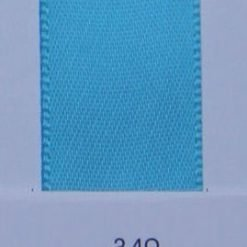 340 Turquoise double faced satin ribbon