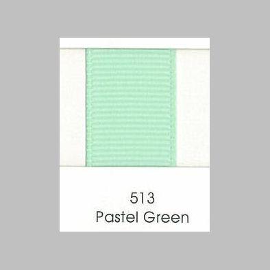 513 Pastel Green Grosgrain ribbon