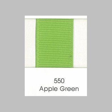 550 Apple Green Grosgrain Ribbon