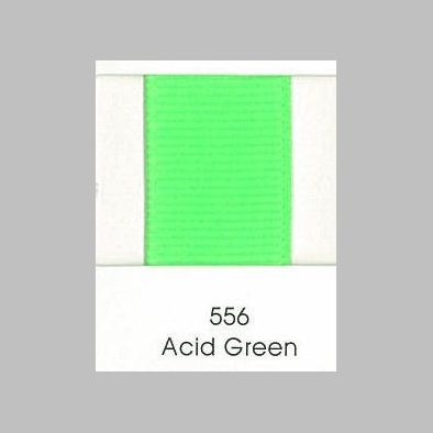556 Acid Green Grosgrain Ribbon