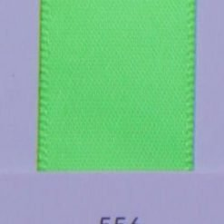 556 Acid Green satin ribbon