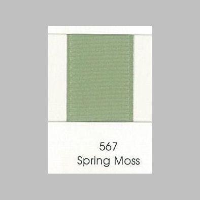 567 Spring Moss Grosgrain Ribbon