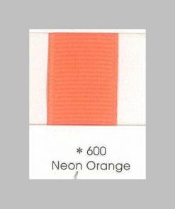 600 Neon Orange Grosgrain Ribbon