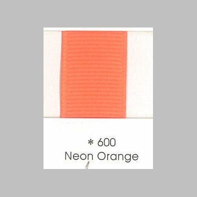 600 Neon Orange Grosgrain Ribbon