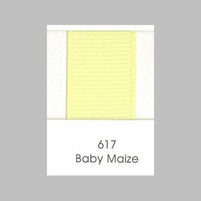 617 Baby Maize Grosgrain Ribbon