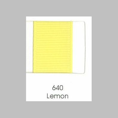 640 Lemon Grosgrain Ribbon