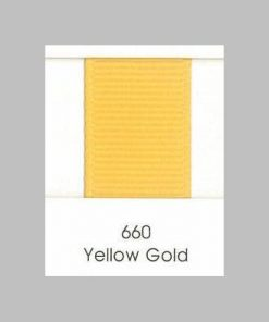660 Yellow Gold Grosgrain Ribbon