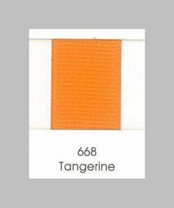 668 Tangerine Grosgrain Ribbon