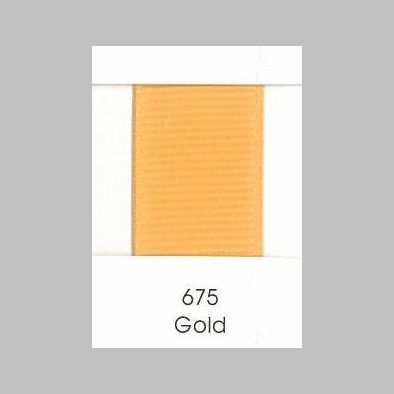 675 Gold Grosgrain Ribbon