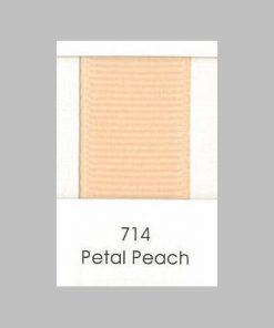 714 Petal Peach Grosgrain Ribbon