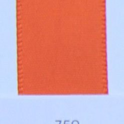 750 Torrid Orange double faced satin ribbon