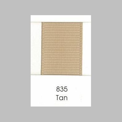 835 Tan Grosgrain Ribbon