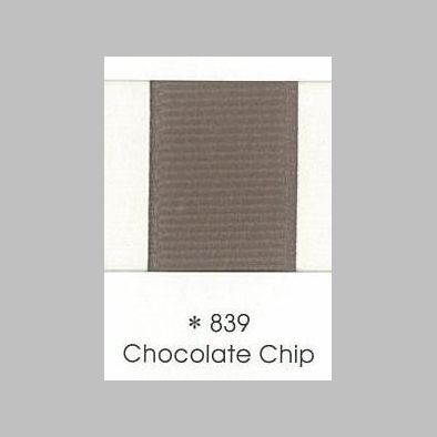 839 Chocolate Chip Grosgrain Ribbon