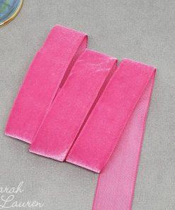 Azaela Velvet Ribbon 25mm Dark Pink