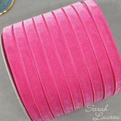 Azaela Velvet Ribbon 9mm Dark Pink