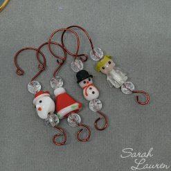 Beaded Christmas hooks Christmas characters