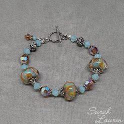 Boro crystal sterling silver bracelet