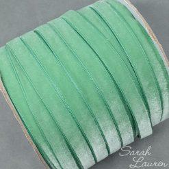 Celedon Velvet Ribbon 9mm Lt Green