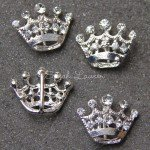Crown rhinestone slider
