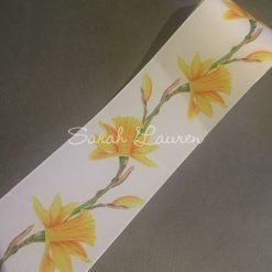Daffodil Ribbon on White 75mm