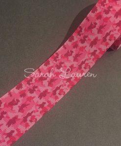 Dark Pink Camouflage Ribbon 38mm