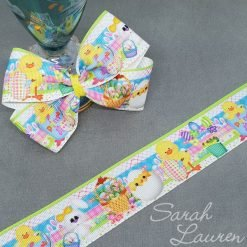 Easter Chick & Eggs Ribbon 38mm