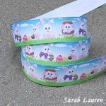Easter Bunny ribbon printed grosgrain 22mm
