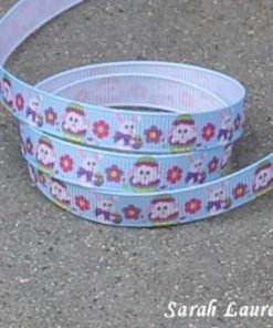 Easter Print Grosgain ribbon blue 9mm