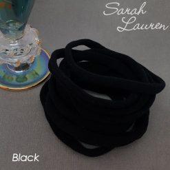 Extra Soft Nylon Headbands Black