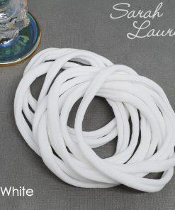 Extra Soft Nylon Headbands White