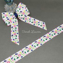Flowers & Leaves Ribbon 22mm