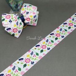 Flowers & Leaves Ribbon 38mm