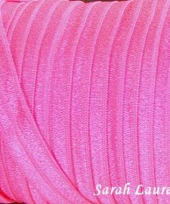 Fold Over Elastic Hot Pink