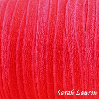Fold Over Elastic 5/8 red