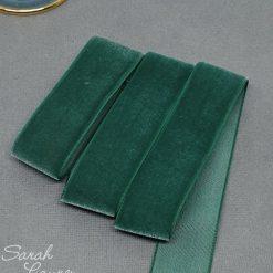 Forest Green Velvet Ribbon 25mm Bottle Green